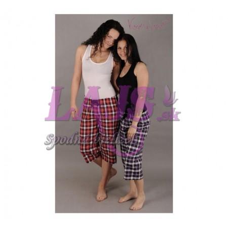 Dámske pyžamové kapri nohavice Lucie