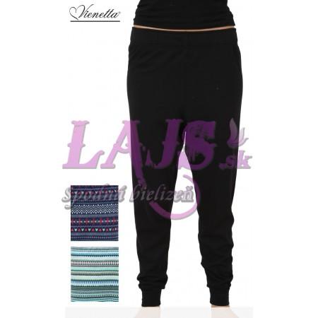 Dámske pyžamové nohavice čierne