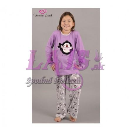 78e83c4a46a3 Detské pyžamo dlhé Tučniak so šálom